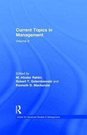 Current Topics in Management: Volume 8