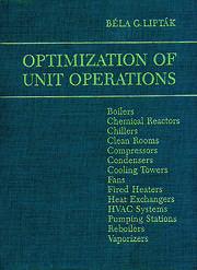 Optimization of Unit Operations