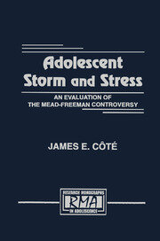 Adolescent Storm and Stress: An Evaluation of the Mead-freeman Controversy