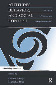 Attitudes, Behavior, and Social Context: The Role of Norms and Group Membership