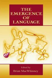 The Emergence of Language