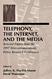 Telephony, the Internet, and the Media: Selected Papers From the 1997 Telecommunications Policy Research Conference