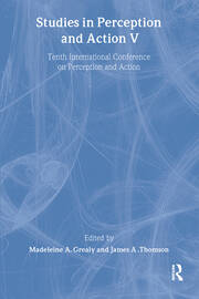 Studies in Perception and Action V: Tenth international Conference on Perception and Action