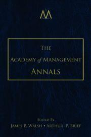 The Academy of Management Annals, Volume 1