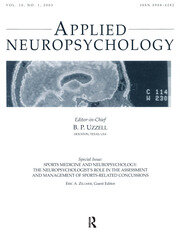 Sports Medicine and Neuropsychology