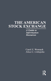 The American Stock Exchange: A Guide to Information Resources