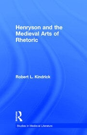 Henryson and the Medieval Arts of Rhetoric