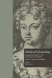 Medieval Scholarship: Biographical Studies on the Formation of a Discipline: Literature and Philology