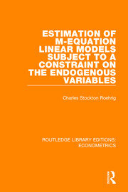 Estimation of M-equation Linear Models Subject to a Constraint on the Endogenous Variables