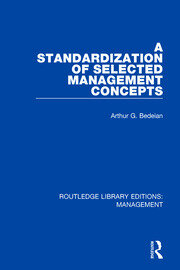 A Standardization of Selected Management Concepts