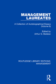 Management Laureates: A Collection of Autobiographical Essays (Volume 6)