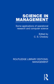 Science in Management: Some Applications of Operational Research and Computer Science