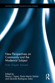New Perspectives on Community and the Modernist Subject: Finite, Singular, Exposed