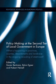 Policy Making at the Second Tier of Local Government in Europe: What is happening in Provinces, Counties, Départements and Landkreise in the on-going re-scaling of statehood?