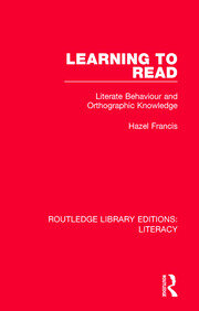 Learning to Read: Literate Behaviour and Orthographic Knowledge
