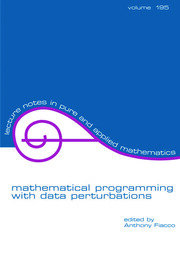 Mathematical Programming with Data Perturbations