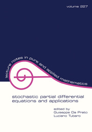 Stochastic Partial Differential Equations and Applications