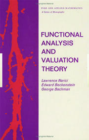 Functional Analysis and Valuation Theory