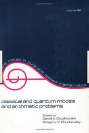 Classical and Quantum Models and Arithmetic Problems