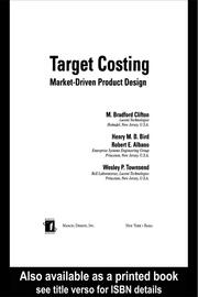 Target Costing: Market Driven Product Design