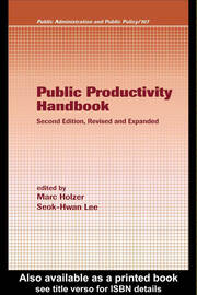 Public Productivity Handbook, Second Edition,