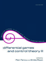 Differential Games and Control Theory Iii: Proceedings of the Third Kingston Conference
