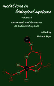 Metal Ions in Biological Systems: Volume 9: Amino Acids and Derivatives as Ambivalent Ligands