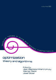 Optimization: Theory and Algorithms