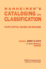 Manheimer's Cataloging and Classification, Revised and Expanded