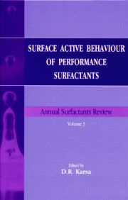 Surface Active Behaviour of Performance Surfactants