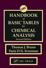 CRC Handbook Basic Tables Chemical Analysis 2nd Ed - 1st Edition book cover
