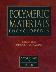 Polymeric Materials Encyclopedia, Twelve Volume Set