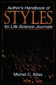 Author's Handbook of Styles for Life Science Journals