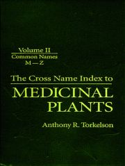 Cross Name Index of Medicinal Plants, Volume II