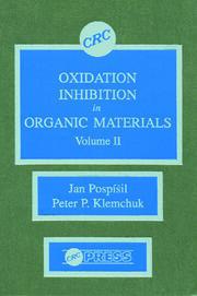 Oxidation Inhibition in Organic Materials, Volume II