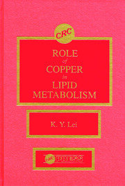 Roles of Copper in Lipid Metabolism