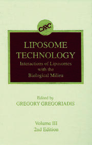 Liposome Technology, Second Edition, Volume III