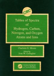 Tables of Spectra of Hydrogen, Carbon, Nitrogen, and Oxygen Atoms and Ions