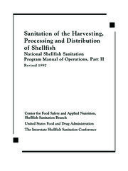 Sanitation of the Harvesting, Processing, and Distribution of Shellfish