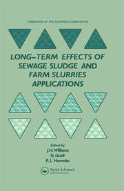 Long-term Effects of Sewage Sludge and Farm Slurries Applications