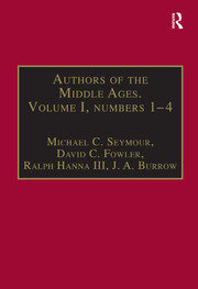 Authors of the Middle Ages. Volume I, Nos 1–4: English Writers of the Late Middle Ages