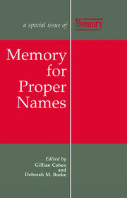 Memory for Proper Names: A Special Issue of Memory