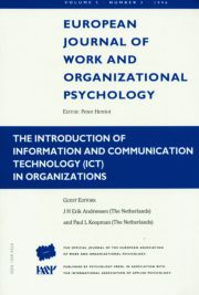 The Introduction of Information and Communication Technology ICT in Organizations: A Special Issue of the European Journal of Work and Organizational Psychology