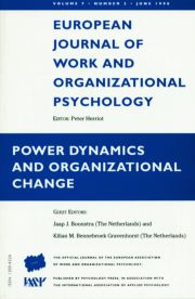 Power Dynamics and Organizational Change: A Special Issue of the European Journal of Work and Organizational Psychology