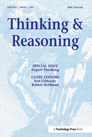 Expert Thinking: A Special Issue of Thinking and Reasoning