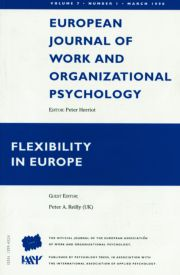 Flexibility in Europe: A Special Issue of the European Journal of Work and Organizational Psychology