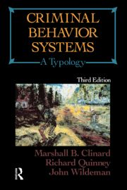 Criminal Behavior Systems: A Typology