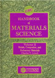 CRC Handbook of Materials Science, Volume II: Material Composites and Refractory Materials