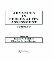 Advances in Personality Assessment: Volume 4
