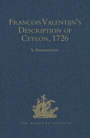François Valentijn's Description of Ceylon